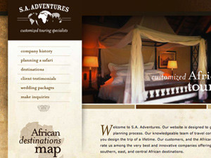 South African Adventures Website