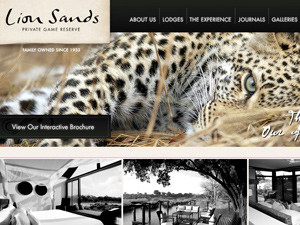 Lion Sands Resort Website Design