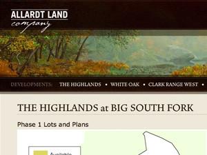 Allardt Land Company Interface